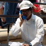 ゴミ箱とも闘う!ファンカストみねざきさんに遭遇!(5/22)