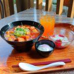 チャイナボイジャーの人気メニュー!冬〜春限定、豚角煮とマーボー豆腐のあんかけ麺【ボイジャーセット】