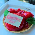 【ディズニークリスマス2017】クリスマスカラーのミッキー型。ハイピリオン・ラウンジの「クリスマス・ファンタジーケーキセット」