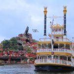 35周年に向けて。金色塗装の蒸気船マークトウェイン号が登場!