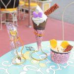 【TDR35周年】チョコレートクランチを使ったコラボメニュー!「アイスクリームコーン」スペシャルメニュー2種