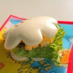 エッグが入ってリニューアル!ヒューイ・デューイ・ルーイのグッドタイム・カフェ「グローブシェイプ・ローストチキンパオ(エッグ入り)」