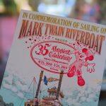 スタンプが押せる!蒸気船マークトウェイン号 TDR35周年記念「乗船証明書」