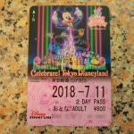 スタートを記念して登場!ディズニーリゾートライン「Celebrate! Tokyo Disneyland」デザインフリーきっぷ