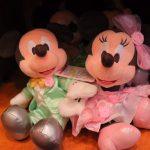 新作ウェディンググッズ♪ミッキーとミニーのペアぬいぐるみ&ぬいぐるみバッジ