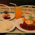 【ハロウィーン2018】おばけミッキー&ミニーのチーズのせハンバーグ♪プラザパビリオン・レストラン「スペシャルセット」