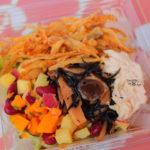 ザクザク食感で美味しい!ごぼうフリット&蒸し鶏のサラダ、ノンオイルバルサミコ醤油ソース