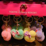 【TDRグッズ】ふわふわでかわいい!ミニーちゃんデザイン、4色セットのキーチェーン